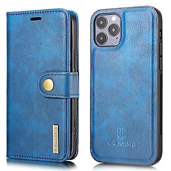 DG.MING iPhone 13 Mini Split Läder Plånboksfodral - Blå