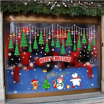 Evago Christmas Window Clings Snowflake Window Decals For Glass Decorations For Holiday Merry Christmas Winter Wonderland Party Decoration Supplies