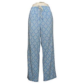 Aria Women's Brushed Waffle Knit Pajama Pants Blue 631033