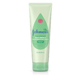 Johnson's Creamy Oil Moisturizing Baby Body Lotion, 8 fl. oz