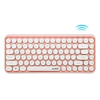 Qwert Wireless 84-tastet Bluetooth-tastatur(pink)