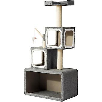Kitten Scratching Post Tower Box Structure With Activity Centres