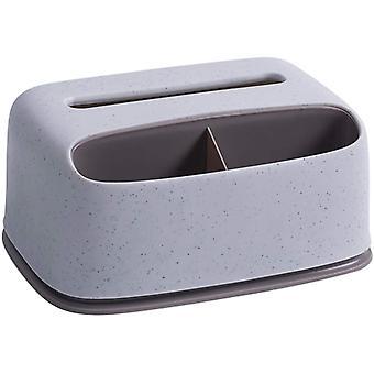 vev dispenser rektangulær vev dispenser boks med plast ansiktsvev dispenser boks som kan lagre og plassere vev papirholder (grå)