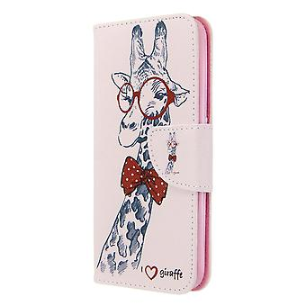 Fall für Samsung Galaxy A01 Muster Giraffe
