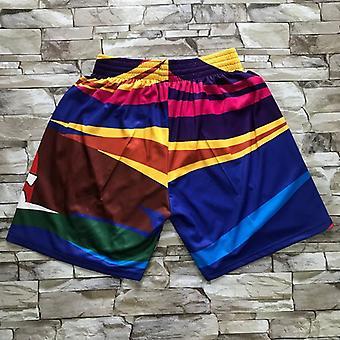 Men's Toronto Raptors Basketball Shorts Retro Sports Basketball Fans Casual Quick Dry With Pockets Short Pants Outdoor Sport Sandbeach Shorts