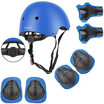 Roller Skate Protection Kit With Adjustable Children's Bicycle Helmet