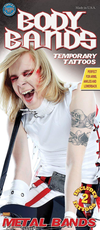 Tinsley Transfers Snake Temporary Tattoo Pack