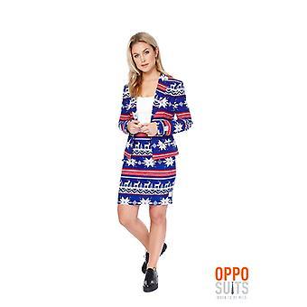 Répondre à Miss Rudolph Christmas Mesdames costume coloré Slimline prime 2 tailles de l'UE