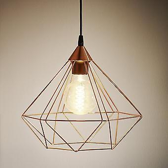 EGLO Tarbes Cooper géométrique Vintage plafond pendentif, grande