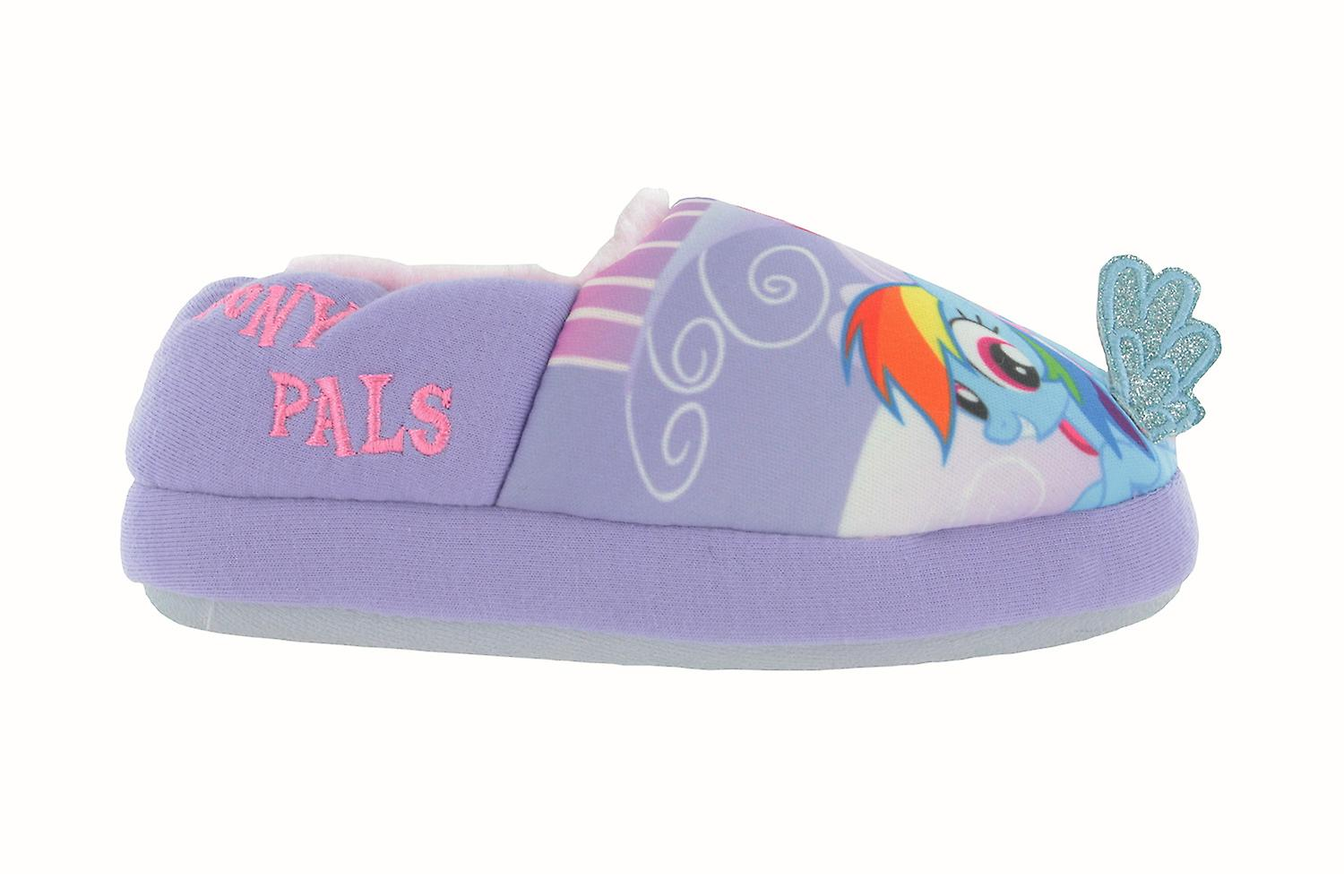 Girls My Little Pony Lilac Faux Fur Lined Slippers UK Infant Various Sizes