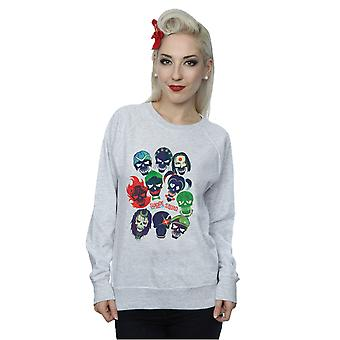 Suicide Squad Women's Band Of Skulls Filled Sweatshirt