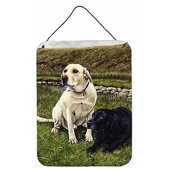 Yellow and Black Labradors Wall or Door Hanging Prints