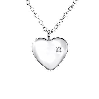 القلب-925 فضة جولد قلادات-W23310x