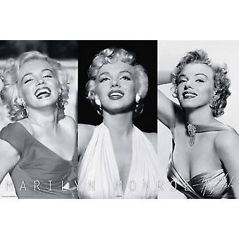 Marilyn Monroe - trío cartel Poster Print