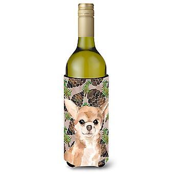 Chihuahua pinho Cones garrafa de vinho Beverge isolador Hugger