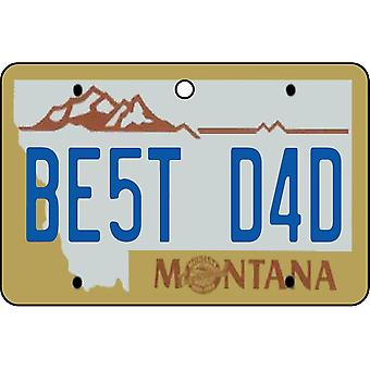 Montana - Best Dad License Plate Car Air Freshener