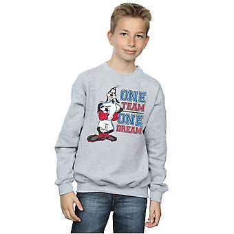 Disney Boys Goofy One Team One Dream Sweatshirt