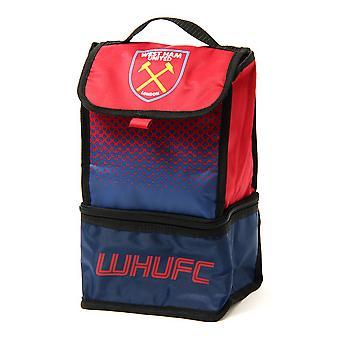 West Ham FC officielle Fade isoleret fodbold Crest frokost taske