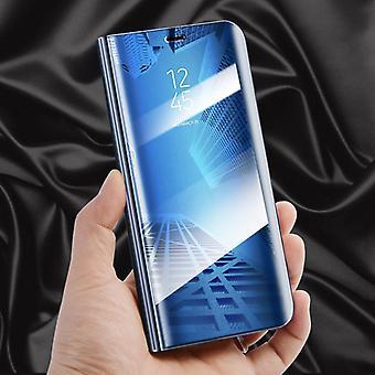 Clear View Spiegel Mirror Smartcover Blau für Huawei P20 Pro Schutzhülle Cover Etui Tasche Hülle Neu Case Wake UP Funktion