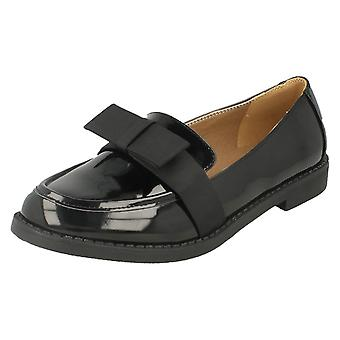 Ladies Spot On Loafer With Bow Trim