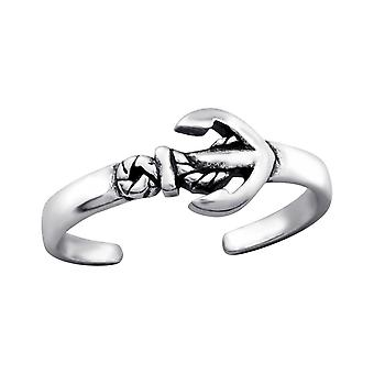 Anchor - 925 Sterling Silver Toe Rings - W27625X