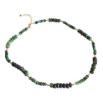 Emerald Necklace Emerald Necklace EVY faceted Emerald Necklace gold plated