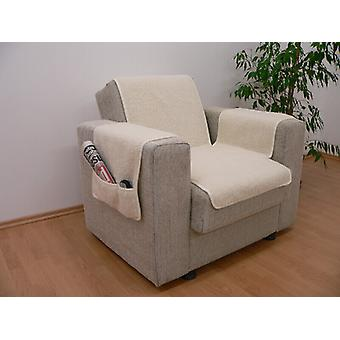 Podłokietniki - i fotel wygaszacz zestaw z 2 kieszenie MALI kolor: naturalny wełny