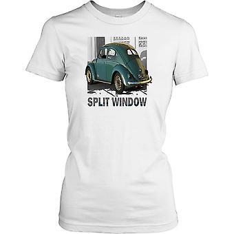 Dele vinduet bille - klassisk VW damer T skjorte