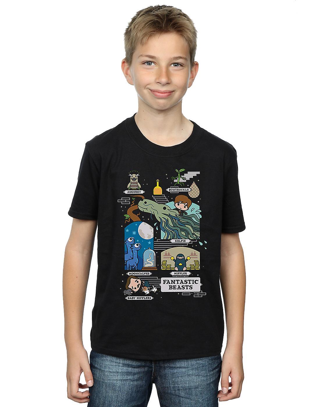 Fantastic Beasts Boys Chibi Newt T-Shirt