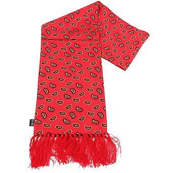 Knightsbridge kaulavaatteita Paisley silkkihuivi - punainen