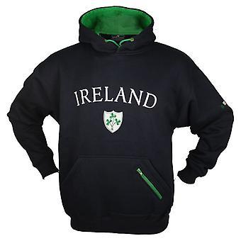 Irland Shamrock Marine Fleece gefüttert Rugby Hoody - Größen XS - XXL