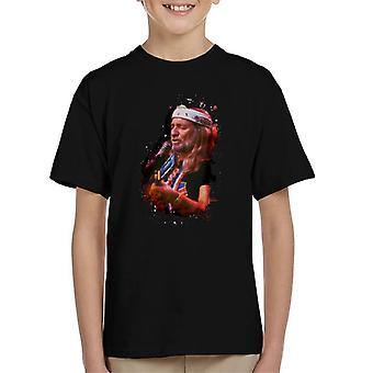 TV kertaa Willie Nelson Live Paint roiskia Lasten t-paita