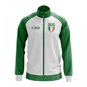 Irland-Konzept Fußball Trainingsjacke (weiß)