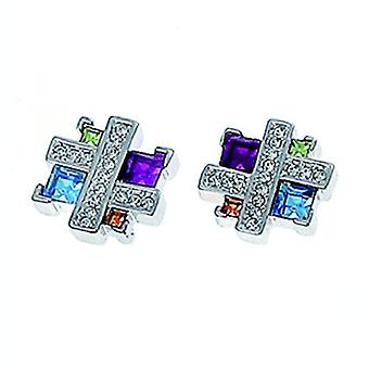 Oliver Weber Post Earring Couture Rhodium