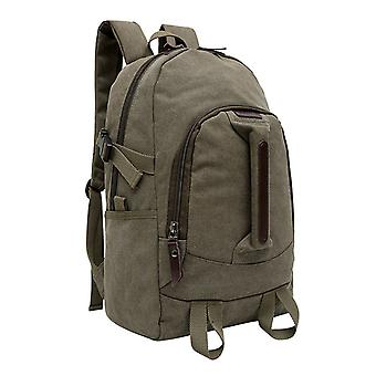 Olive green backpack in durable fabric