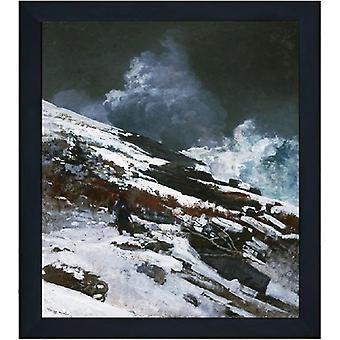 Avec la Côte d'Hiver Ram, Winslow Homer, 61x51cm