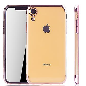 Handyhülle für Apple iPhone XR Rose Pink - Clear - TPU Silikon Case Backcover Schutzhülle in Transparent   Rose Pink