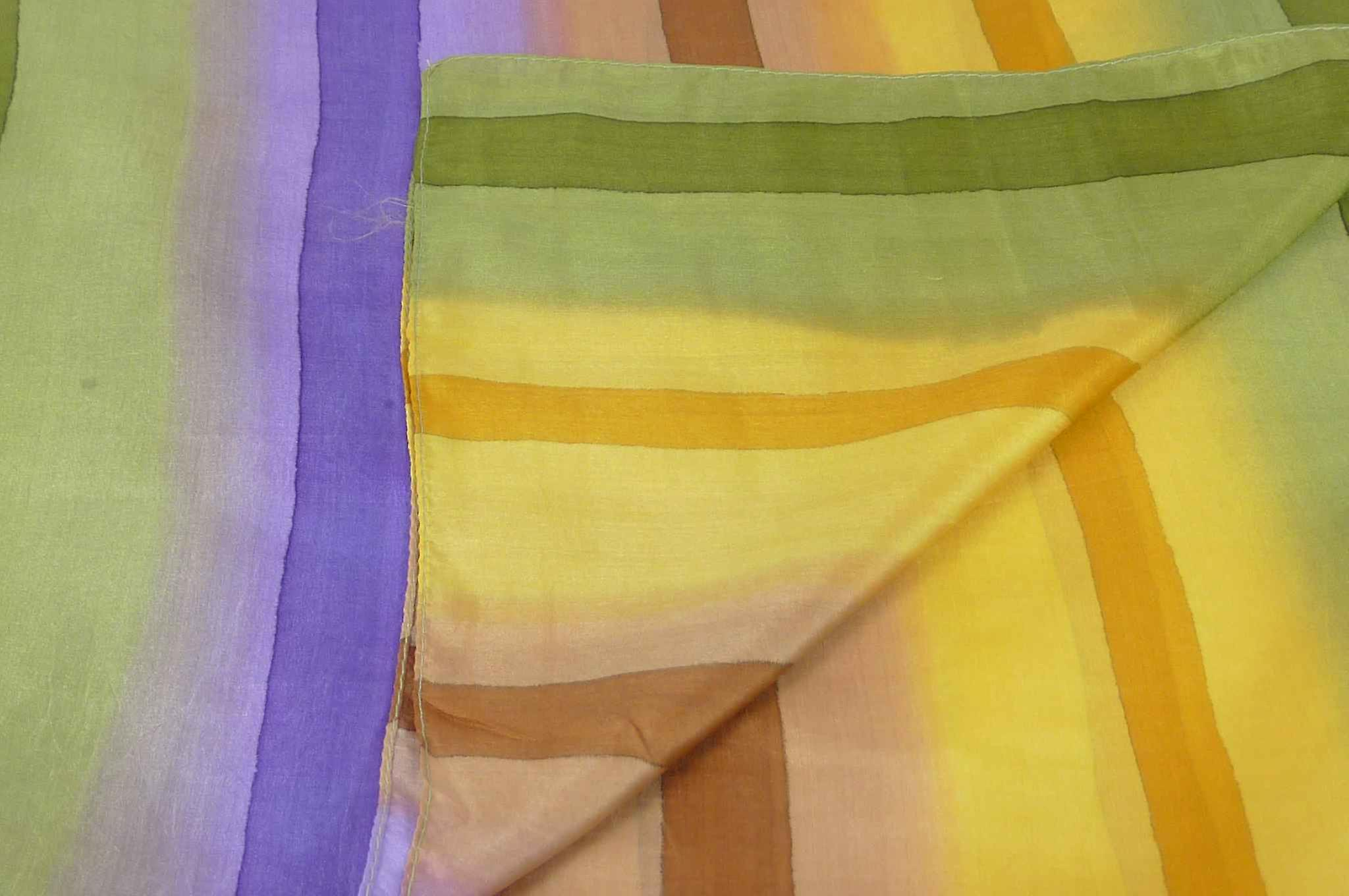 Mulberry Silk Classic Long Scarf Verma Rainbow Palette by Pashmina & Silk