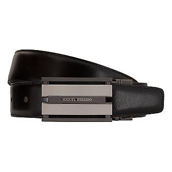 MIGUEL BELLIDO clasico belt belt men's belts leather belt brown/black 7709