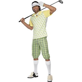 Gone Golfing Costume, Green, Yellow and White, Chest 42