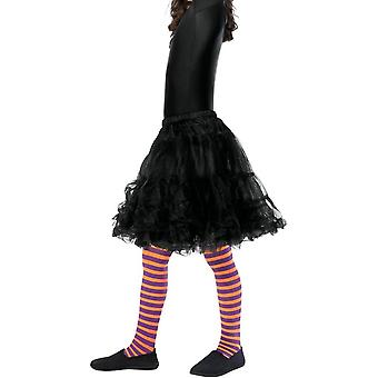 Wicked Witch Tights, Child, Orange & Purple