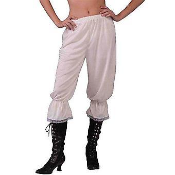 Białe spodnie.