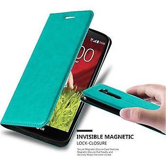 Cadorabo Hülle für LG G2 غطاء القضية -- Handyhülle mit Magnetverschluss ، Standfunktion und Kartenfach -- غطاء القضية Schutzhülle Etui Tasche كتاب Klapp نمط