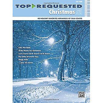 Oben angeforderten Weihnachten Noten: Klavier, leicht (Noten oben angefordert)