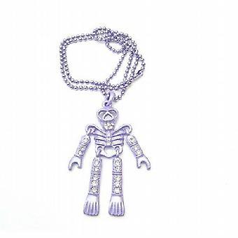 Halloween esqueleto roxo corpo pingente colar pingente joia