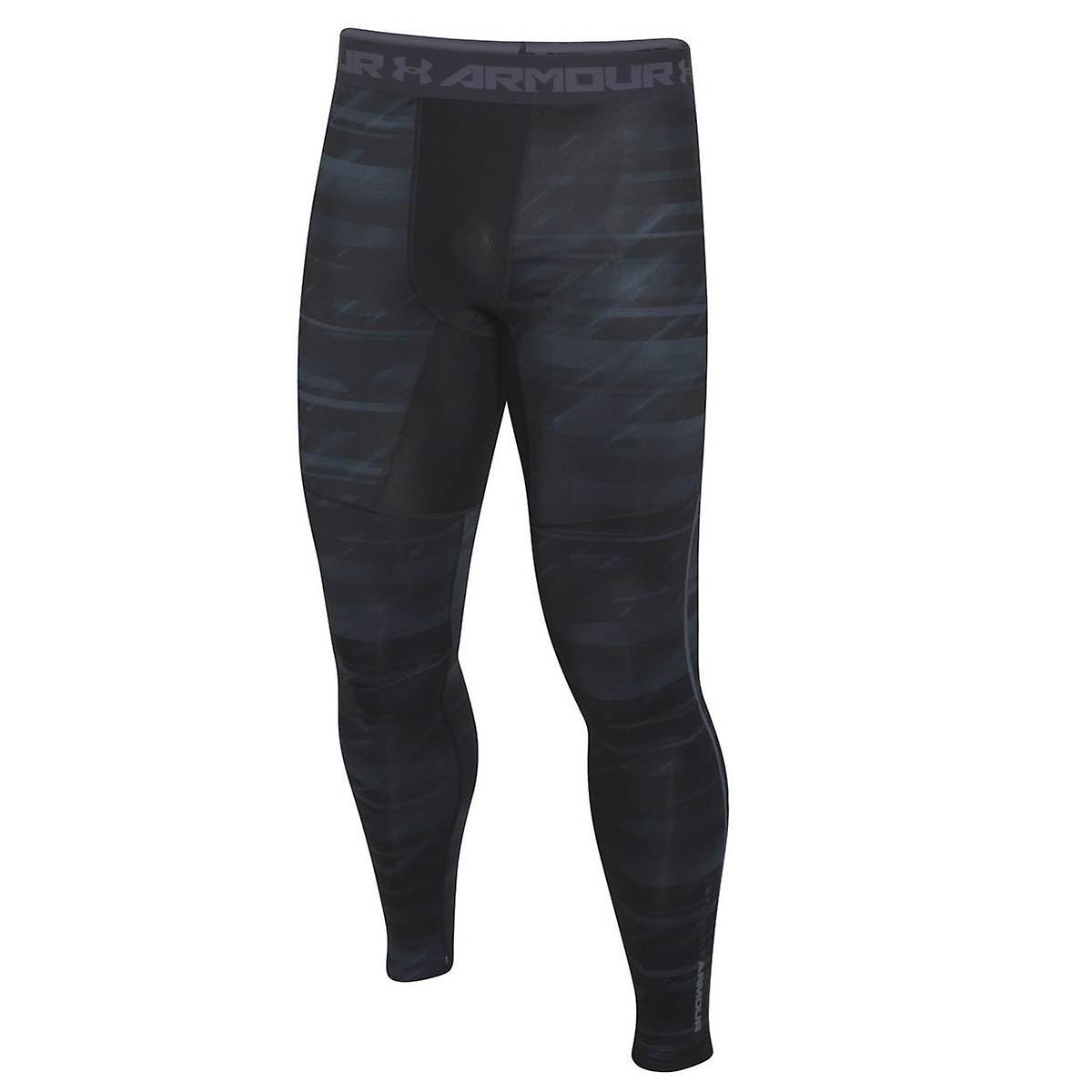 Under Armour ColdGear Armour Printed Compression Baselayer Legging Black