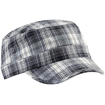 Beechfield Unisex Plaid Cadet Army Cap (Pack of 2)