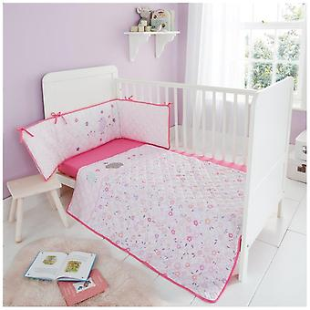 Luxury Baby Bumper Set Boys Girls Cot Bed Nursery Coverlet Jersey Fitted Sheet