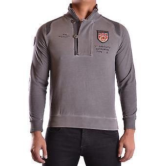 Etiqueta Negra Ezbc183018 Men's Grey Cotton Sweater
