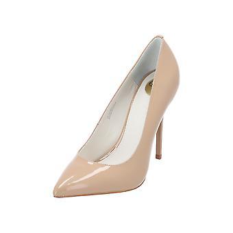 Buffalo 1151065 PUMPS Women's stilettos High Heels Lack Spitz Beige Nude Leather